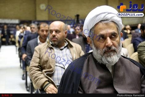 فرزند رهبری،رضا رشیدپور و رئیس اطلاعات سپاه در یک مراسم ختم+عکس
